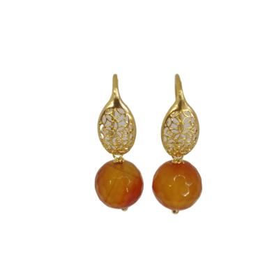 Gold Filigree Earrings Code : GA701