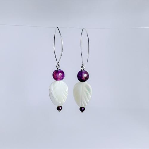 Amethyst Shell Pearl & Sterling Silver