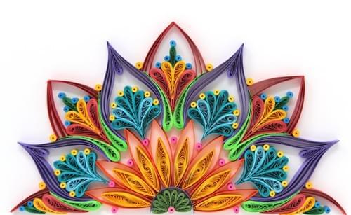 Varna - Quilling Mandala Paper Art work - Sacred Geometry Paper Quilled Art Work - Yoga Studio Decor