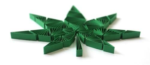 Ganja - Marijuana Leaf 1st Anniversary Paper Quilling Wall Art Gift - Cannabis Paper Quilled Art