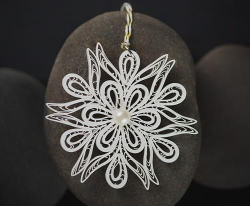 Quilled White Snowflake - Paper Snowflake - Quilling Snowflakes - Christmas Decor Gifts - Quilling