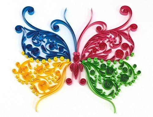 Sumukhi(Butterfly) - 1st Anniversary Paper Quilling Art Work Gift - Nursery Room Decor