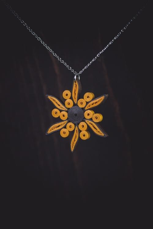 Sun Necklace/ Sun Jewelry/ Earrings/ Jewelry/ Quilling Jewelry/ Paper Jewelry/ Quilling