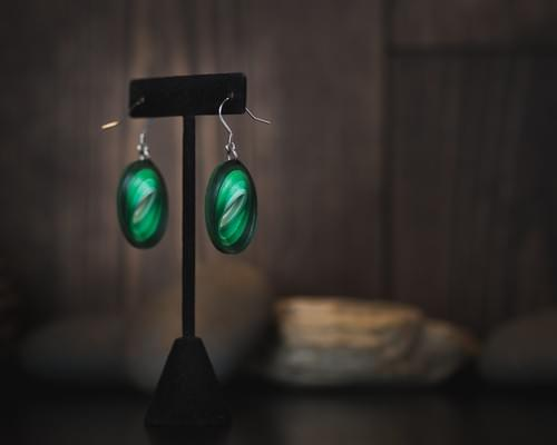Haritha - Jade Green Paper Quilling Earrings - Summer Boho Dangle Earrings - Paper Quilled Jewelry