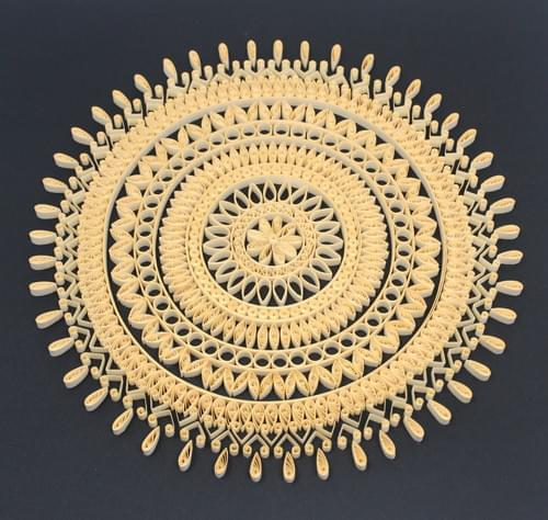 Mandala Paper Quilling Art work - Sacred Geometry Paper Quilled Art Work - Yoga Studio Decor
