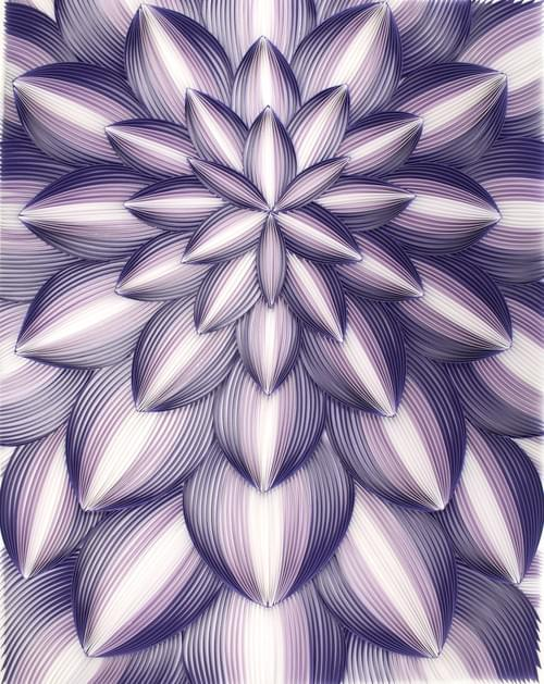 Guha - Trippy/ Purple Art/ Psychedelic Art/ Trippy Art/ Abstract Art/ Quilling Art