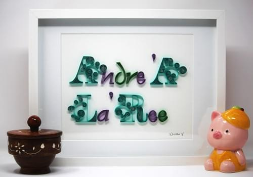 Custom Name Sign Paper Quilling Art Work -1st Anniversary Name Wall Decor Gift - Personalized Name