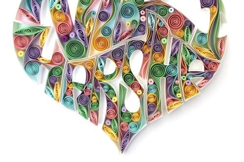 Personalized Couple Names Art Gift - Paper Quilling Name Art Work Gifts - Personalized Gifts