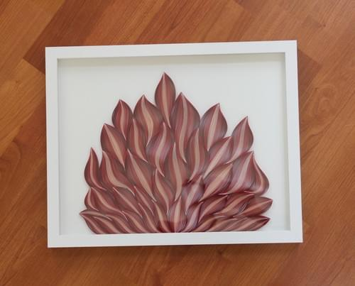 Agni - Flames/ Abstract Art/ Red Art/ Flames Art/ Red Color Art/ Red Abstract Art/ Paper Quilling