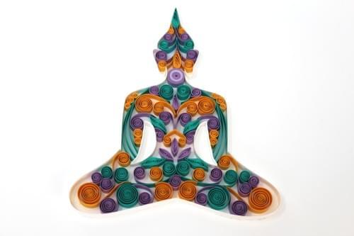 Buddha Artwork/ Buddha/ Buddha Sculpture/ Quilling/ Quilling Art/ Buddha Picture/ Sitting Buddha