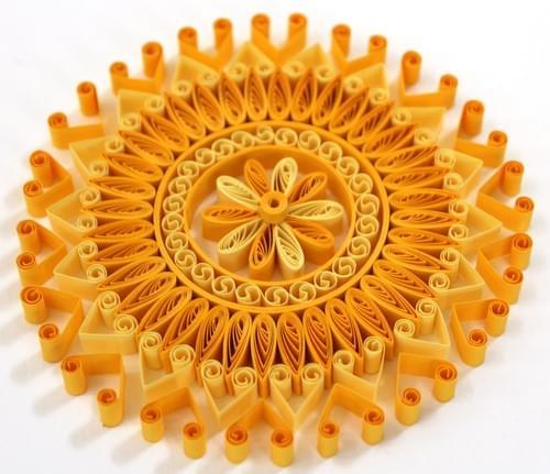 Zara - Yellow Mandala/ Mini Mandalas/ Yoga Art/ Meditation Art/ Quilling/ Mandalas/ Quilling Mandala