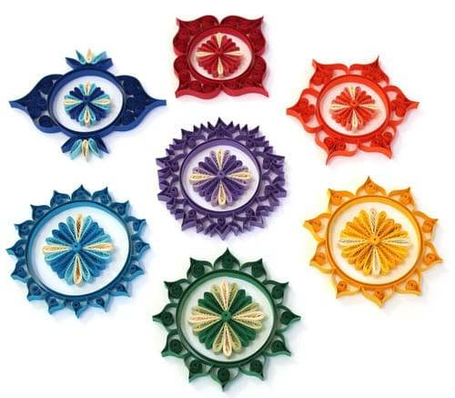 Sacred Geometry Chakras Paper Quilling Art-1st Anniversary Gift for couples -Paper Quilled Art Work