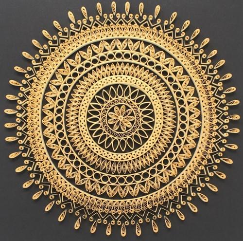 Mandala Art/ Madalas/ Quilled Mandala/ Meditation Art/Yoga Art/Yogic Gifts/Meditation Gifts/Quilling