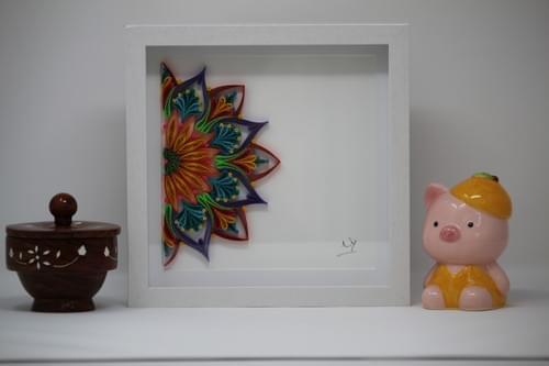 Varna - Multi Color Mandala/ Quilling/ Quill Art/ Paper Quilling/ 1st anniversary gift/ Meditation