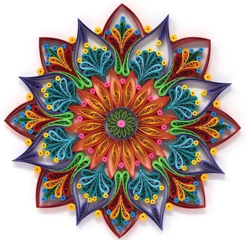 Vishuddhata - Mandala Art/ Mandalas/ Quilled Mandala/ Quilling/ Quilling Art/ Paper Quilling