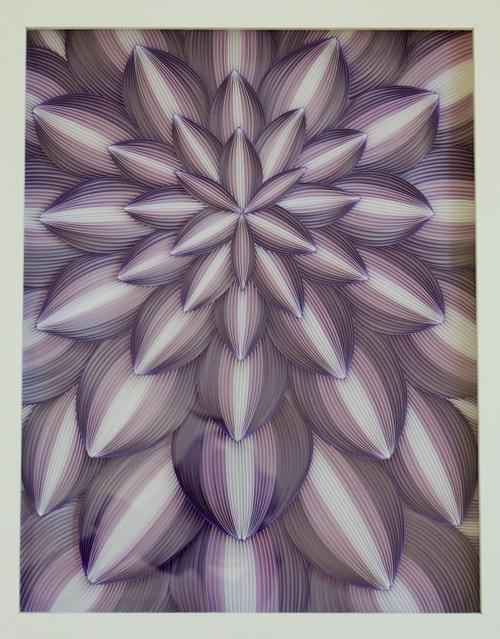 Guha - Purple Framed Paper Quilling Art Work - 1st Anniversary gift for her - Abstract Wall Art Gift