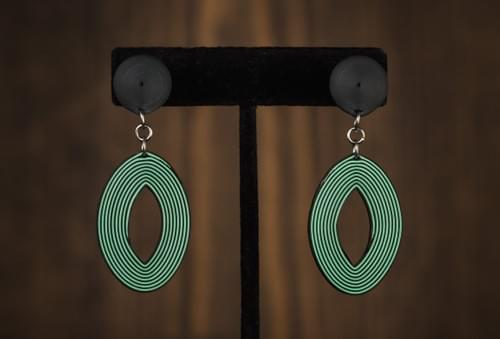 Netra(Eye) - Geometric Paper Quilling Light Weight Earrings - Quilled Earrings -1st Anniversary Gift