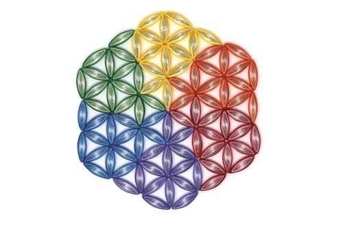 Flower of Life 1st Anniversary Paper Quilling Art Work Gift - Geometric Quilled Art - Yoga Decor