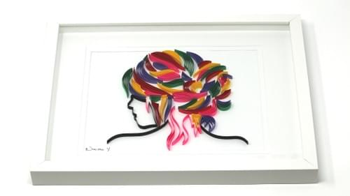 The Lady Paper Quilling Art Work - One Year Anniversary Gift - Saloon Framed Art Work