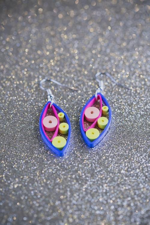 Payas - Exuberance/ Purple Earrings/ Quilling earrings/ Earrings/ 1st anniversary gift/ Jewelry