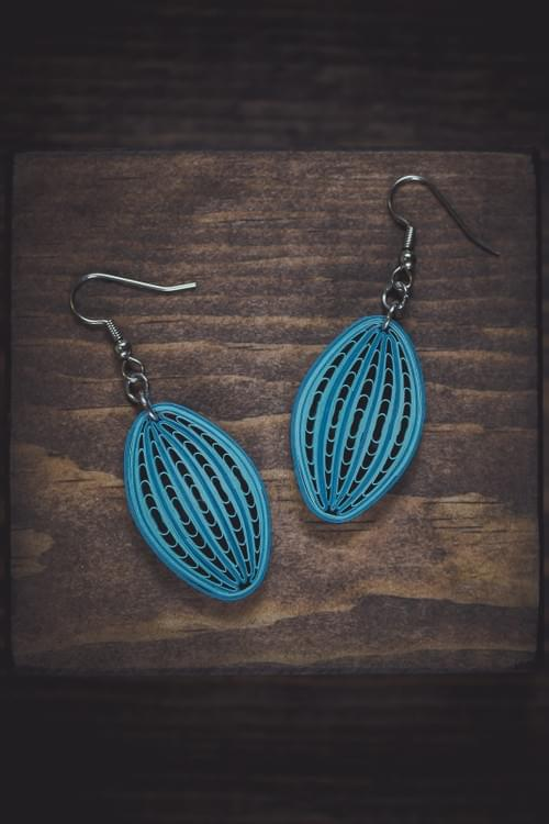 Viha - Sky/ Blue earrings/ Sky blue earrings/ Earrings/ Quilling jewelry/ A gift for her/ Earrings