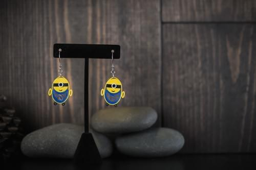 Minion Earrings/ Minion Love/ Minions/ Minion Gifts/Gifts for grandmothers/ Earrings