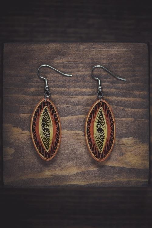 Vikrama - Stability/ Quilling earrings/ Beige earrings/ Gifts for grandmother/ Earrings
