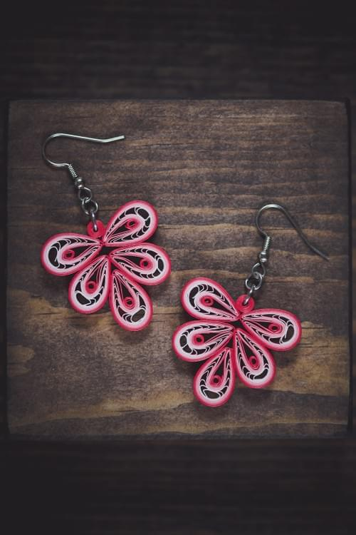 Karthik - Courage/ Paper earrings/ Quilling earrings/ Light weight earrings/ Paper jewelry/ Quilling