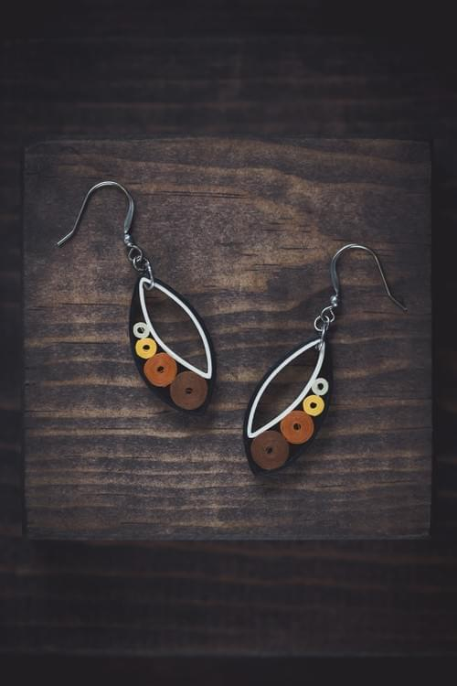 Sama - Neutral/ Earth tone earrings/ Quilling earrings/ Circle earrings/ Geometry earrings/ Earrings
