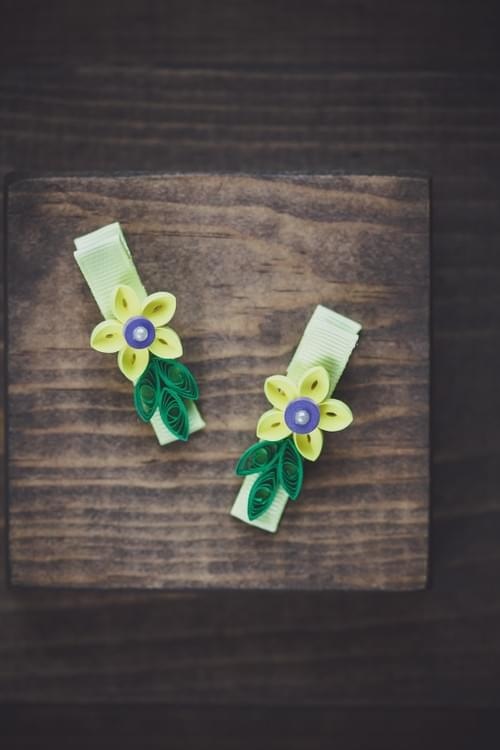 Yellow Flower Hair-clips