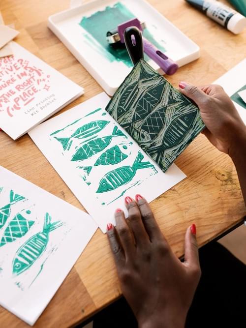 Lino Printing Creative Jungle Kit