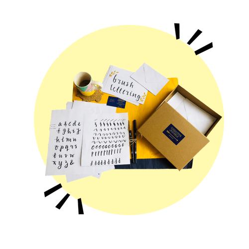 Brush lettering creative kit