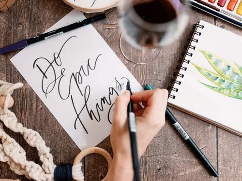 Brush Calligraphy Creative Jungle Kit