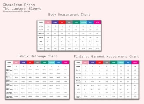 Chameleon Dress & Four Sleeves PDF Sewing Pattern