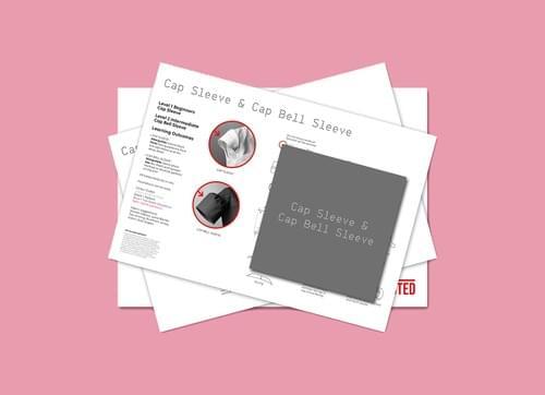 PDF Cut & Spread™ CAP/BELL SLEEVE Instruction cards
