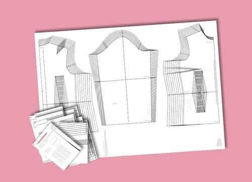 Graded Size Layered Dress Block PDF (6-24)
