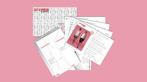 Beginners Cut & Spread™ Pattern Making Kit. Woven TOPS. PDF