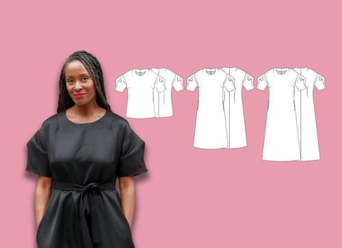 PDF Chameleon Dress Pattern & The Lantern Sleeve Pattern Making Kit