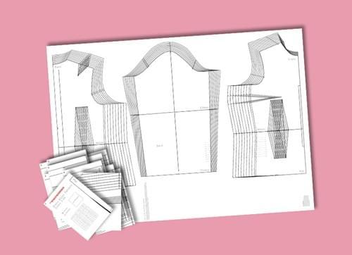 PDF Graded Size Layered Dress Block (6-24)