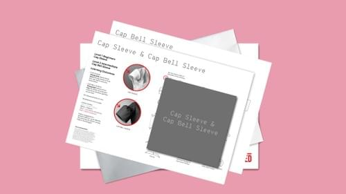 Cap & Cap Bell Sleeve Instruction Card