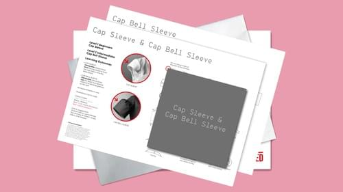 Cut & Spread™ CAP/BELL SLEEVE Instruction cards and 1 metre of Trace & Sew 'paper'.