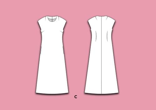 Chameleon Dress Pattern PDF