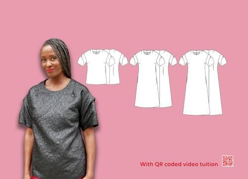 PDF Chameleon Dress Pattern & Caldera Sleeve Pattern Making Kit