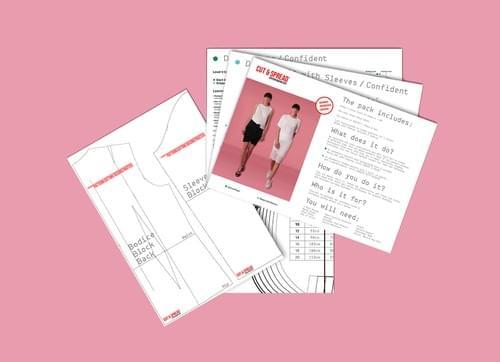 PDF Confident Cut & Spread™ Pattern Making Kit. Jersey TOPS.