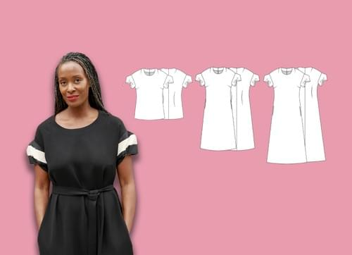 Chameleon Dress & Morigami Sleeve PDF Sewing Pattern