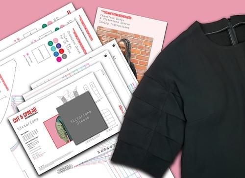 PDF Chameleon Dress Pattern & Victoriana Sleeve Pattern Making Kit