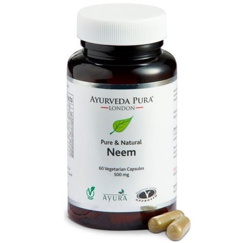 NEEM HERBAL CAPSULES - 60 Vegetarian Capsules