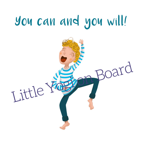 "Yoga Poster ""You can and you will"""