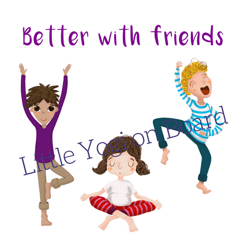 "Yoga Poster ""Better with friends"""