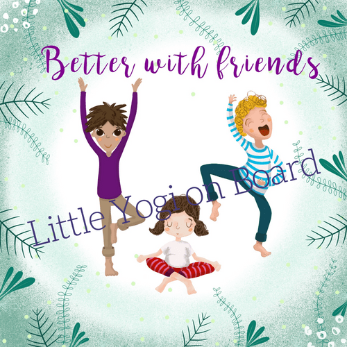 Yoga Poster 'Better with friends' jungle